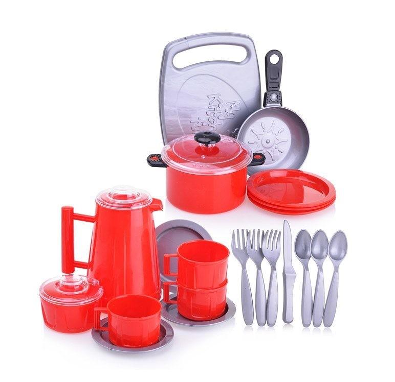 Набор посуды детский Ириска 4 в пакете ОРИОН 097