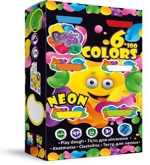 Lovin-Do ФФ41026 Набор теста для лепки 6 стаканов Neon