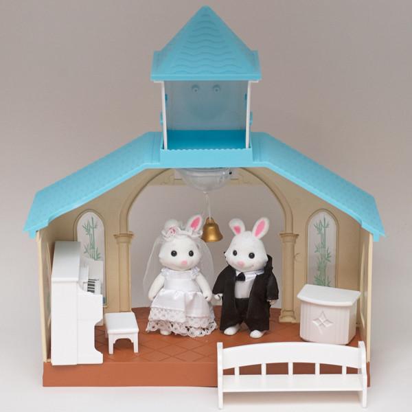 Набор Часовня с зайчиками Happy family 012-09
