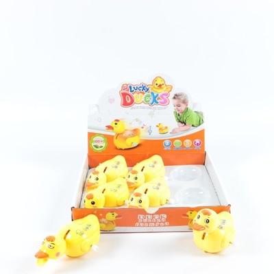 Заводная утка со светом и звуком Lucky ducks 2239-010AB