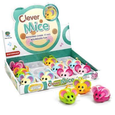 Игрушка заводная мышка Clever mice 696