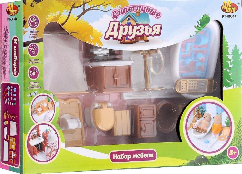 Набор мебели для ванной комнаты Счастливые друзья ABtoys pt-00314