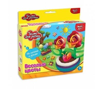 Тесто для лепки Цветы 3 цвета MultiArt 11444-PD
