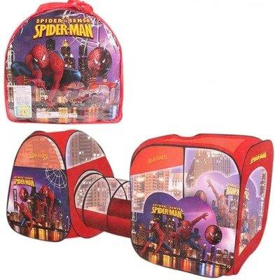Игровая палатка с туннелем SPIDER-MAN в сумке DK TOYS 8015SP