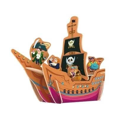 Деревянный 3D пазл Pirate Ship 23 детали ROBOTIME E201