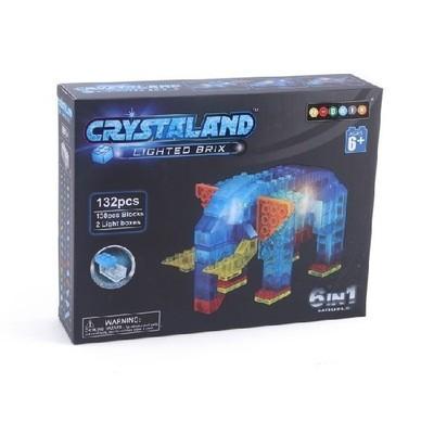 Светящийся Конструктор Животные 132 дет. 6 в 1 Crystaland 99014