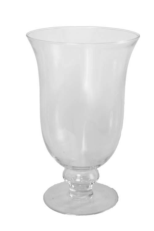 "GP2082 - 9.5"" Tall X 5.75"" Opening Glass Pedestal Vase GP2082"
