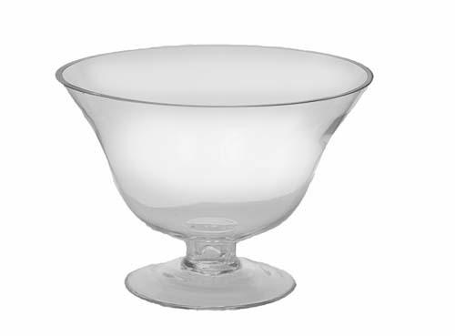 """GP3057CLR - 9"""" X 6"""" Tall Clear Pedestal Vase $12.95 GP3057CLR"""