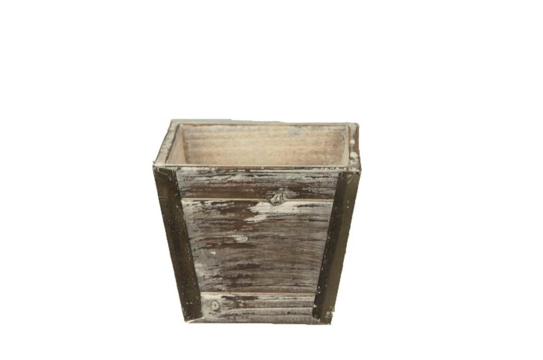 """WB1236 - 5.25"""" X 5.25"""" Square Antique Wash Pot W/L WB1236"""