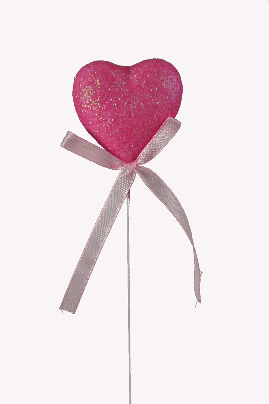 """PL2001PINK - 8"""" Pick With Pink Heart $3.35 a Dozen PL2001PINK"""