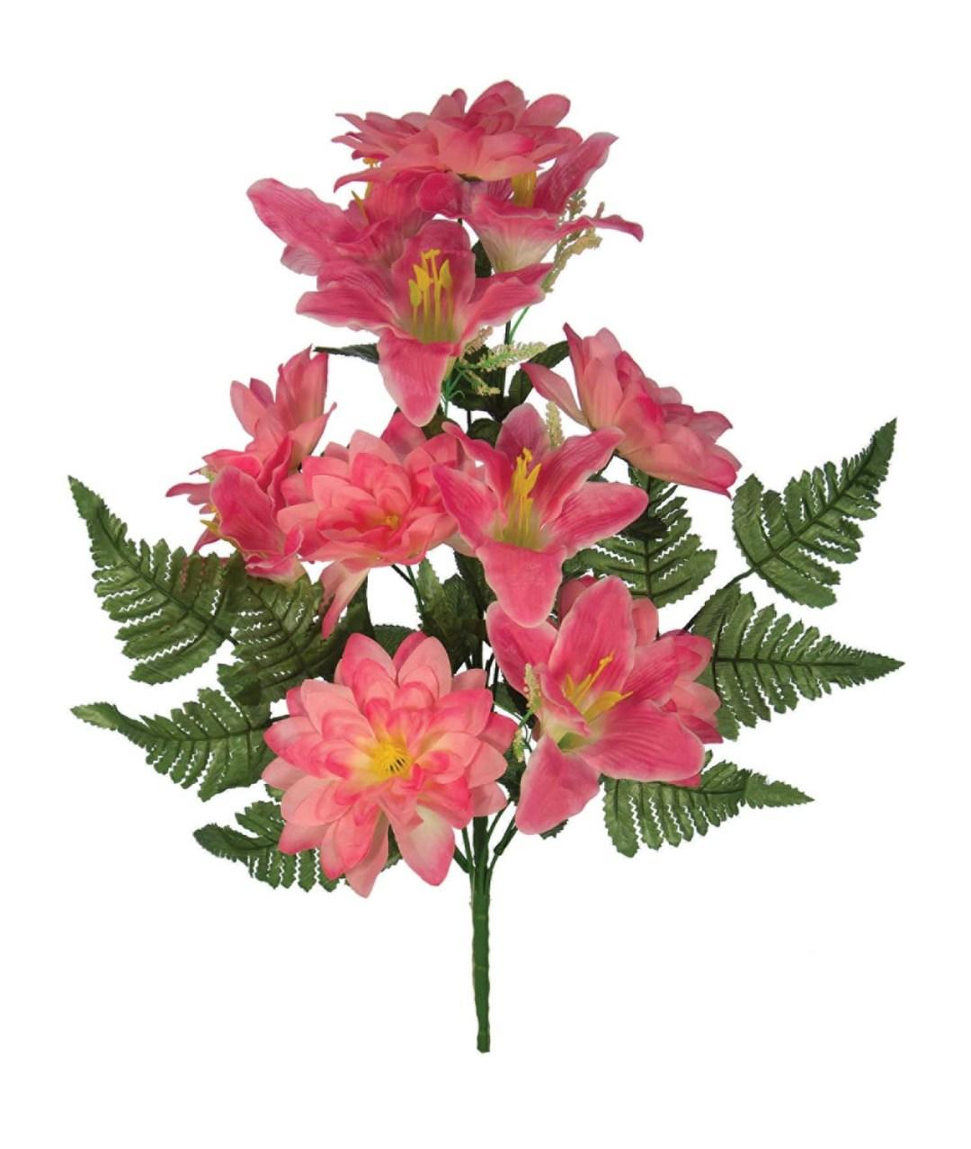 "SB3006PNK - 18"" One Sided Open Lily / Dahlia Mix x12 $3.95 each SB3006PNK"