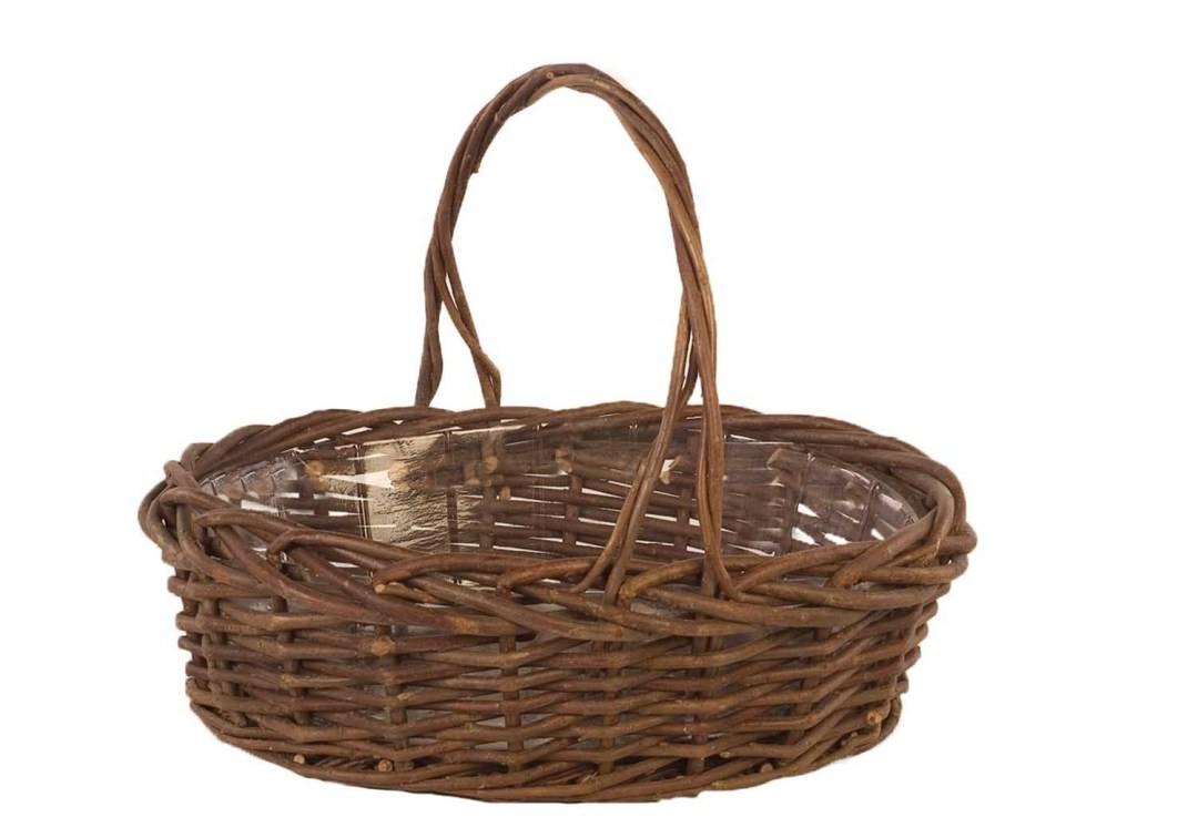 """MS1160-15DK - 15"""" Oval Dark Willow With Handle W/L Liner Included $11.95 each MS1160-15DK"""