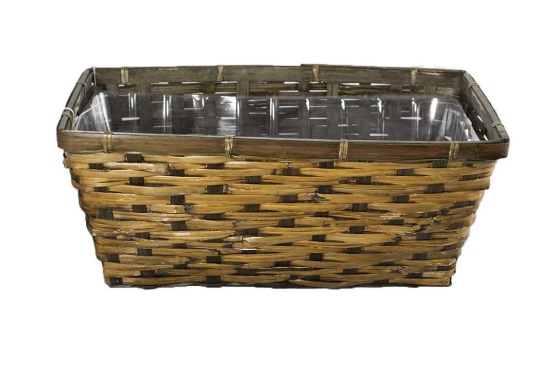 "MS1050-14DK - 14"" X 7.5"" Rectangular DK Pot Basket (fits 2-6"" pots) with Hard Liners MS1050-14DK"
