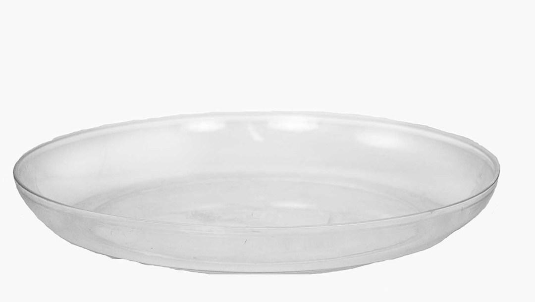 "PL8011CLR - 11"" Round Clear Plastic Design Dish $26.95 PL8011CLR"