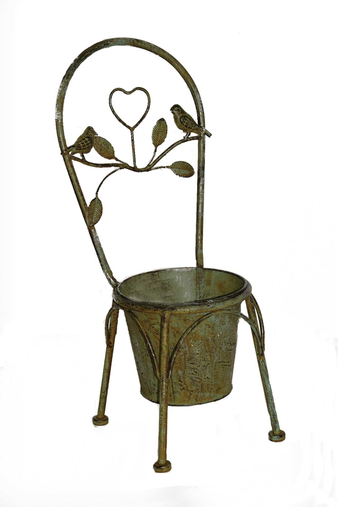 """HG114 - 20"""" Decor Metal Chairwith 6"""" Pot HG114"""