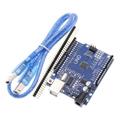 Placa dezvoltare UNO R3, ATmega328p, CH340G, cu cablu USB si bara pini