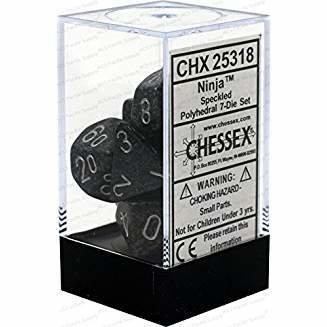 Chessex Speckled Ninja Polyhedral 7 Dice Set CHX25318