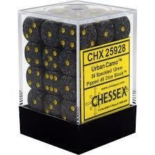 Chessex Dice CHX 25928 Speckled 12mm D6 Urban Camo Set of 36