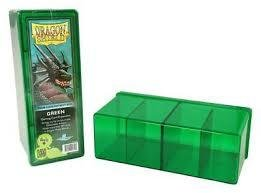 Dragon Shield 4 Compartment Card Box - Green