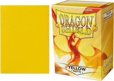 Dragon Shield Sleeves Yellow Matte