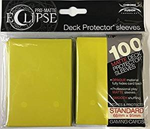 Ultra Pro Eclipse Standard Matte Sleeves Lemon Yellow