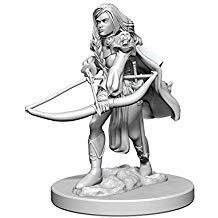 Pathfinder Deep Cuts Unpainted Miniatures: Human Female Fighter