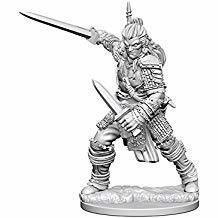Pathfinder Deep Cuts Unpainted Miniatures: Human Male Fighter