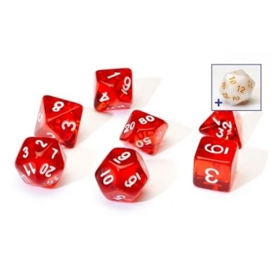 Sirius Dice Red With White Resin