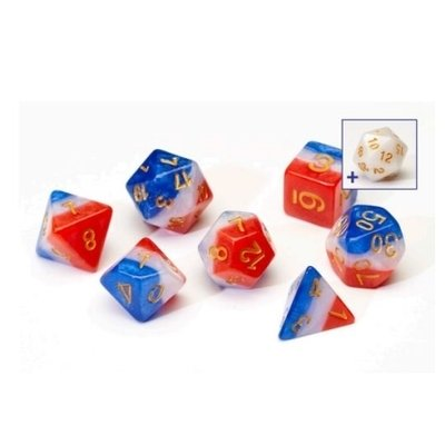 Sirius Dice Red White And Blue Resin
