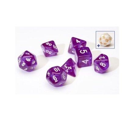 Sirius Dice Purple With White Resin
