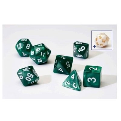 Sirius Dice Pearl Green With White Acrylic