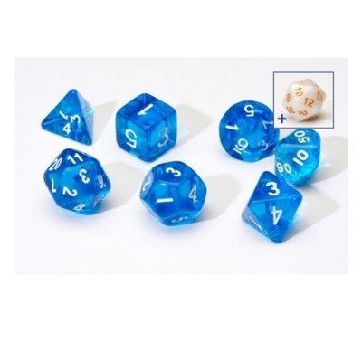 Sirius Dice Blue With White Resin