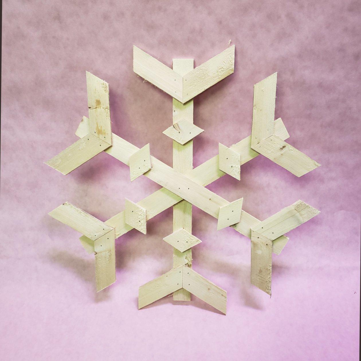 Wooden Snowflakes 00002