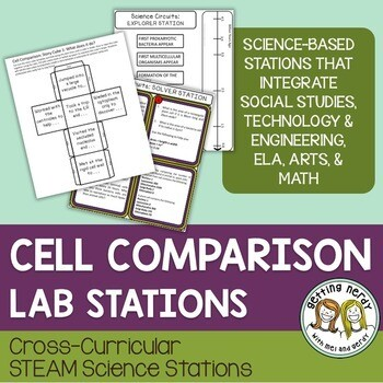 Plant Animal & Bacteria Cell Comparison - Science Centers / Lab Stations