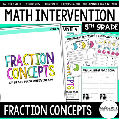 Fraction Concepts Intervention Unit
