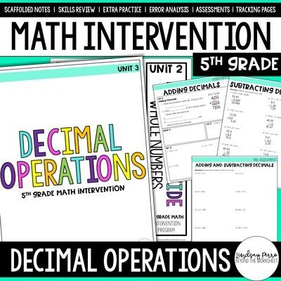 Decimal Operations Intervention Unit