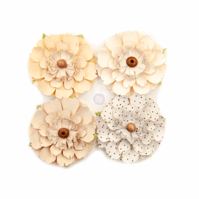 Neutral Beauty - Pretty Pale Flowers - Prima