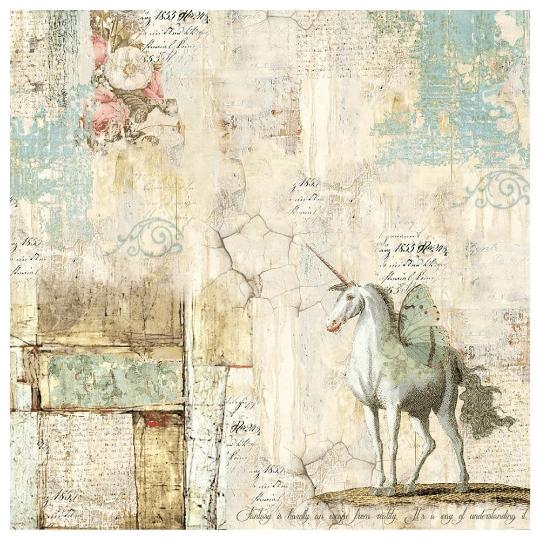 Wonderland Unicorn - Napkin - Stamperia Rice Paper Napkin