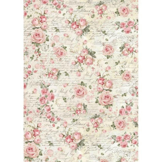 Rose Texture - A3 -Stamperia Rice Paper
