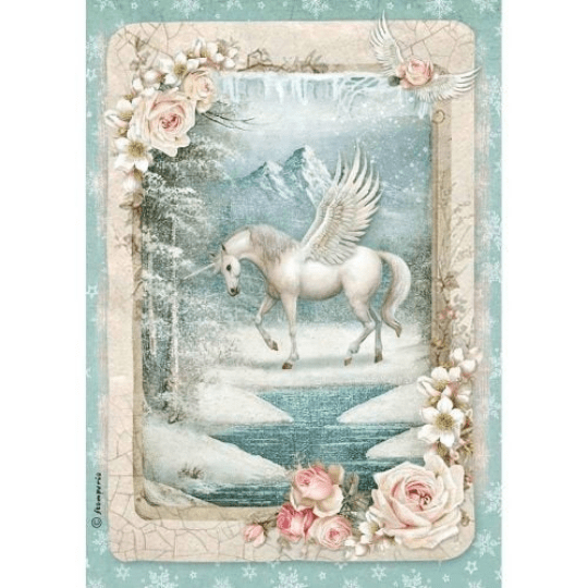Unicorn - A4 -Stamperia Rice Paper