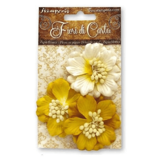 Yellow Gardenia Flowers - Stamperia