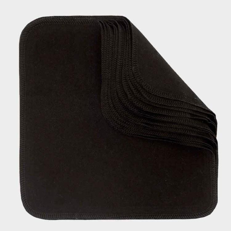 Washable & Reusable Wipes - Black