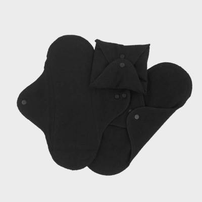 Washable panty liners - pack of 3 - black