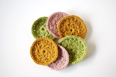 Cleansing Crocheted Pads - Set of 6 multicolor