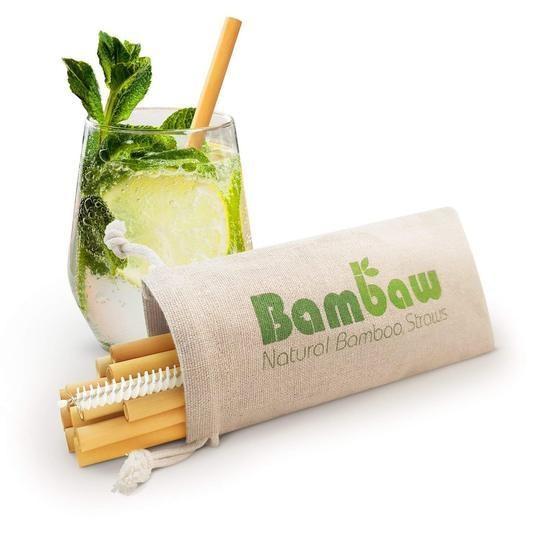 Short Bamboo Cocktail Straws - Set of 12