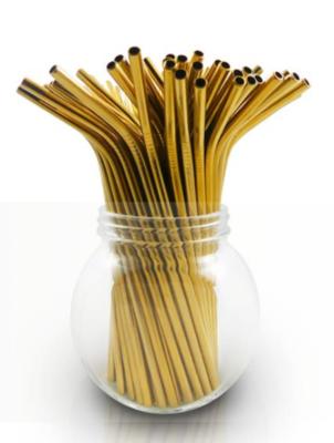 Stainless steel bulk straw - gold