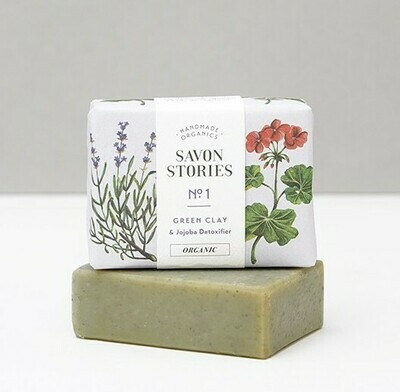 Soap Bar n°1 - Green Clay - Face , Body & Shave