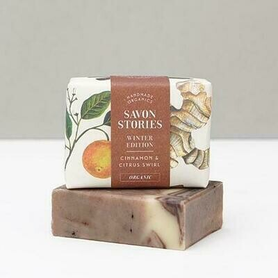 Soap Bar - Cinnamon & Citrus Swirl - Face & Body