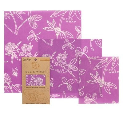 Bee's Wrap - 3 pack assorted - Mimi's Purple