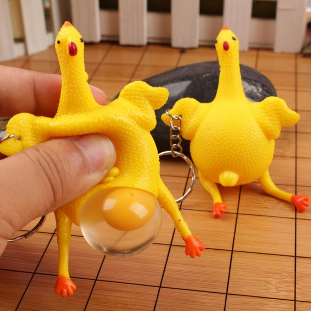 Chicken and Eggs KeyChain